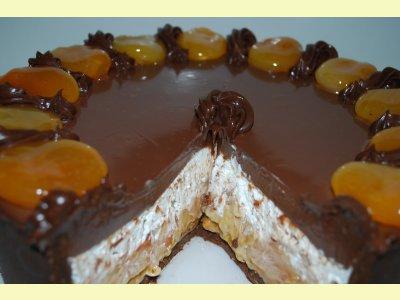 Damasco com chocolate