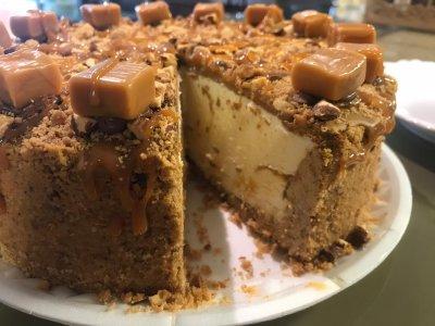 Cheese Cake Amêndoa com Caramelo